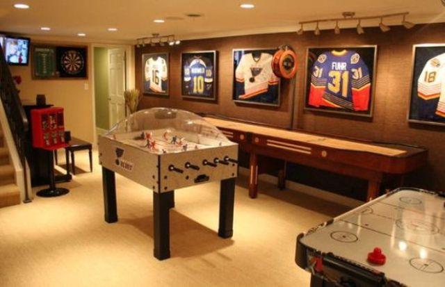 hockey-inspired game room
