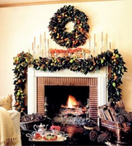 holiday mantel decoration