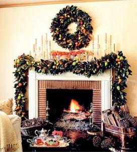 holiday mantel decoration