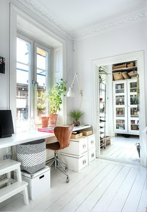 70 gorgeous home office design inspirations digsdigs for Home office design inspiration