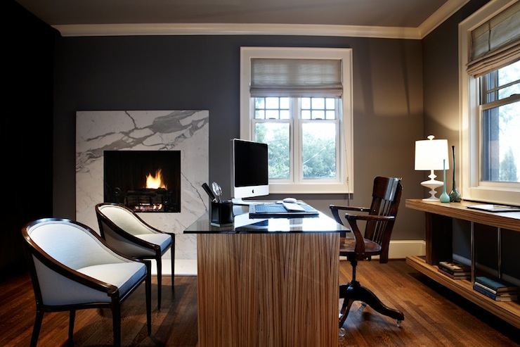 70 gorgeous home office design inspirations digsdigs for Modern home office design
