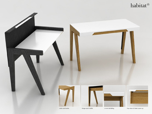 Practical home office desk for living environments digsdigs for Buro solution