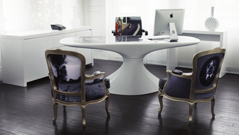 cool home office furniture with stylish prints digsdigs
