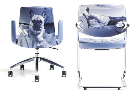 Awesome Home Office Furniture With Stylish Prints