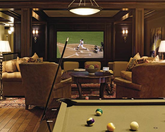 15 cool home theater design ideas digsdigs for Home theater basement design ideas