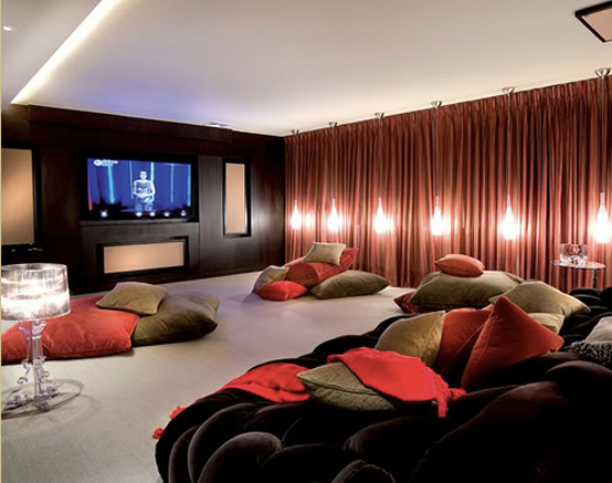 15 cool home theater design ideas digsdigs Theater rooms design ideas