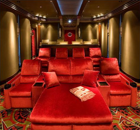 15 cool home theater design ideas digsdigs for Small room movie theater