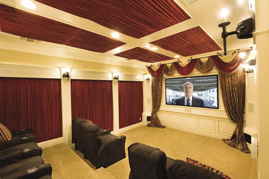 15 cool home theater design ideas digsdigs Home theatre room design ideas in india