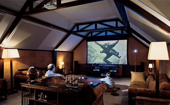 15 cool home theater design ideas digsdigs Home cinema interior design ideas