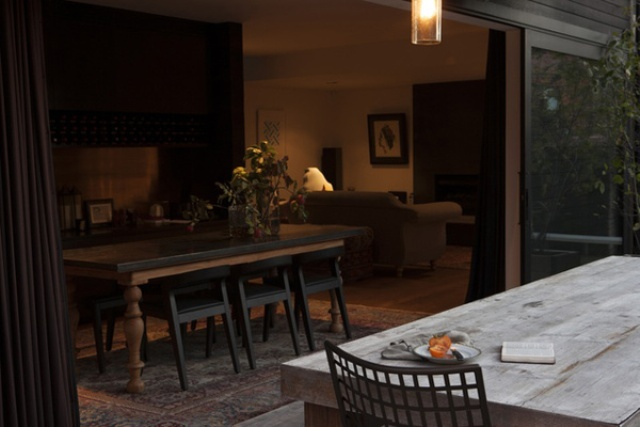 Home With A Country Feel In Dark Shades