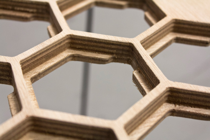 Honeycomb Coffee Table That Can Change Structure