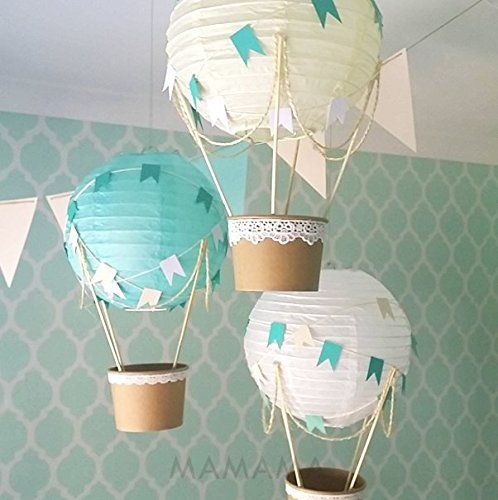 hot air balloons  for a boy baby shower