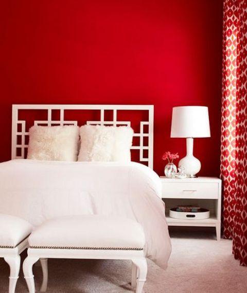 24 Hot Cranberry Monochromatic Rooms
