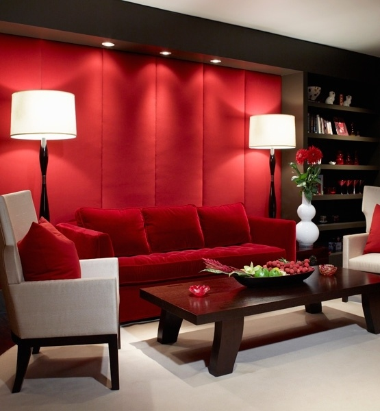 Monochromatic Room: 24 Hot Cranberry Monochromatic Rooms