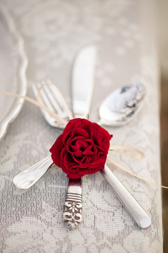 Hot Red Valentine Decor Ideas