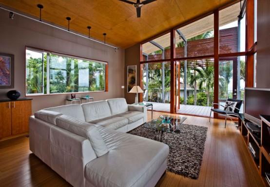 House In Hawaiian Traditions Of Basalt Masonry