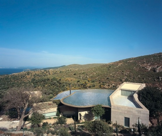 House with Pools on The Roof That Collect Rainwater