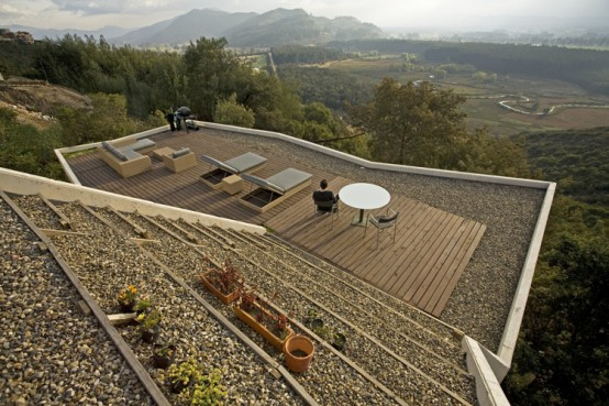 House With Backyard On The Roof