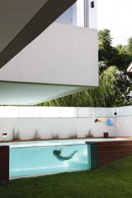 house with fantastic elevated swimming pool devoto house by andres remy