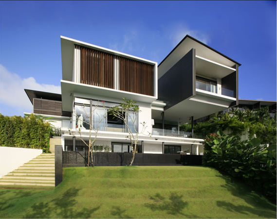 Modern house of bukit tunggal digsdigs for Architecture design for home in rajkot