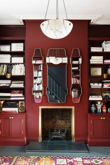 How To Accentuate Your Living Room With Marsala Ideas