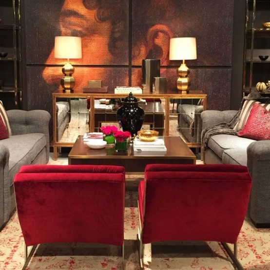 Ideas to accentuate your living room with marsala digsdigs