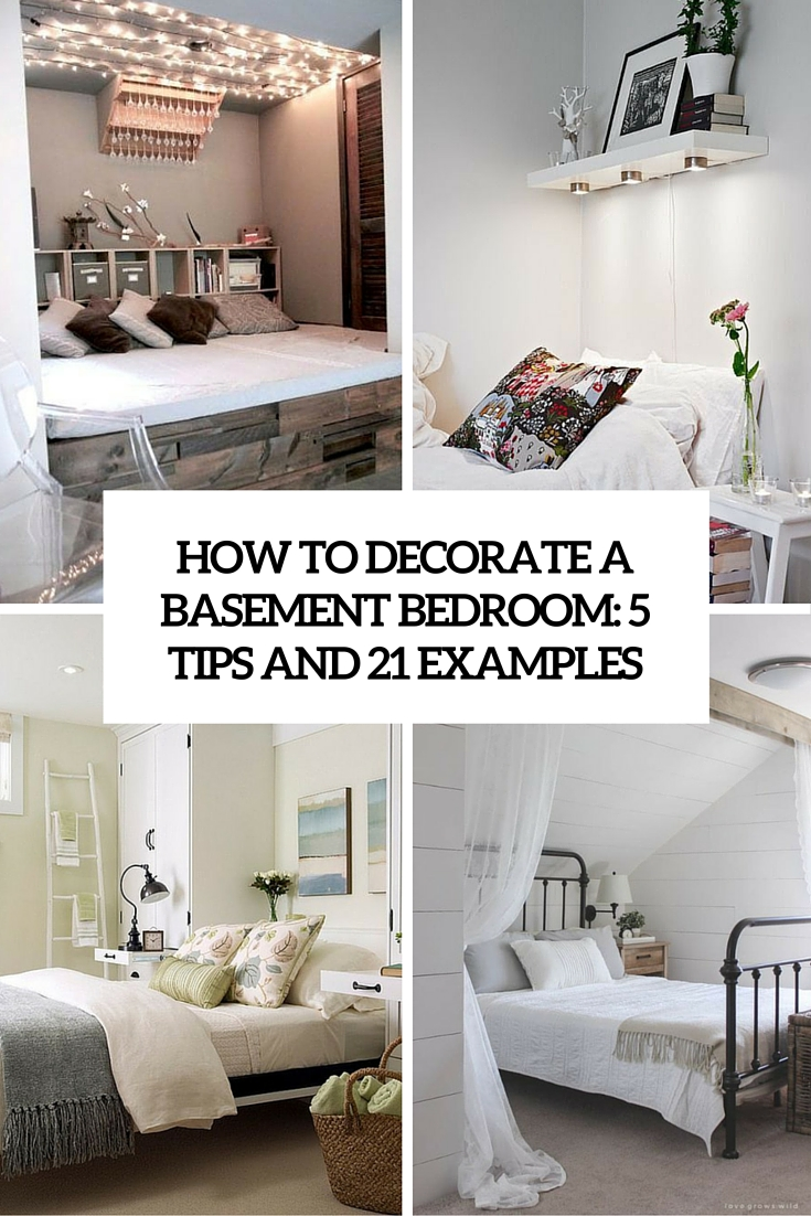 Marvelous How To Decorate A Basement Bedroom 5 Tips And 21 Examples Cover