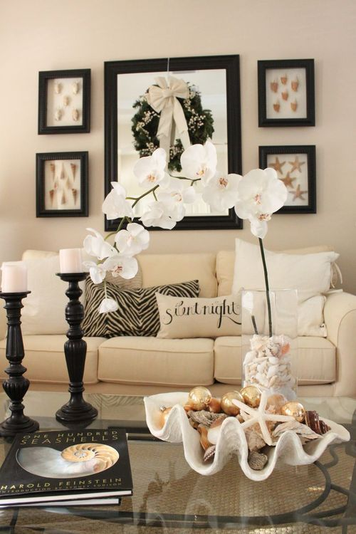 How to decorate with seashells 37 inspiring ideas digsdigs for Beautiful homes decorated for christmas