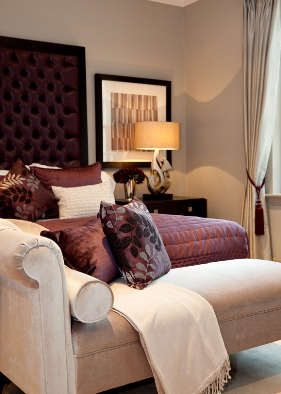 How To Decorate Your Bedroom how to decorate your bedroom with marsala: 20 ideas - digsdigs