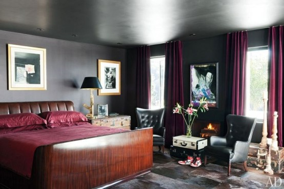 How To Decorate Your Bedroom With Marsala: 20 Ideas