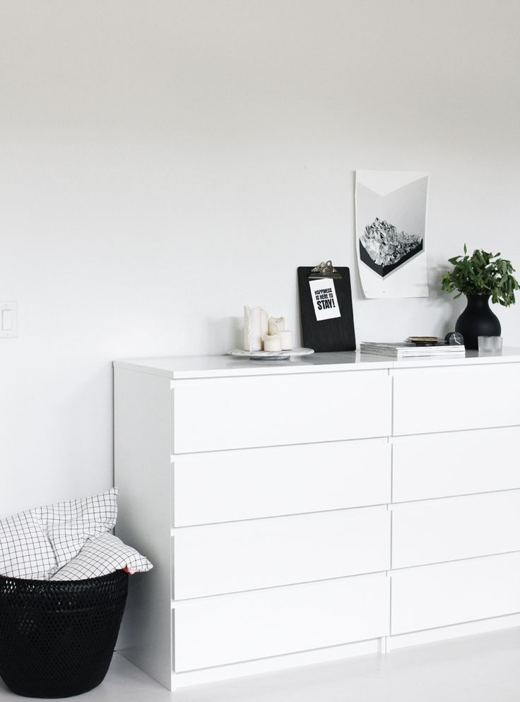 Nordic interiors seem to perfectly fit IKEA Malm dressers, whatever color you prefer