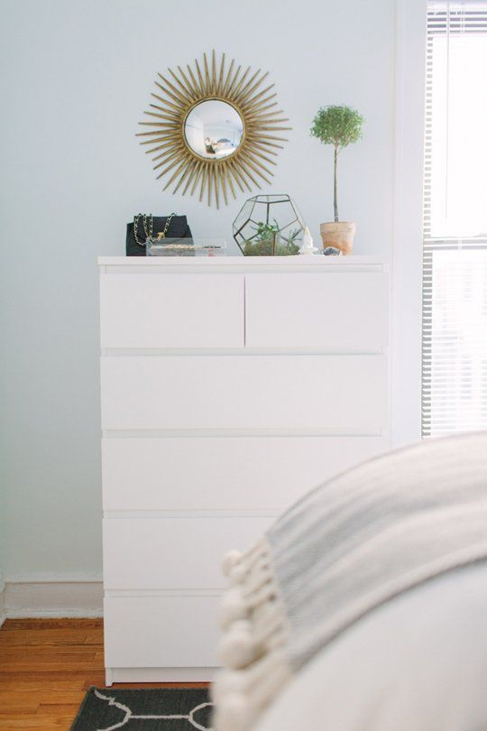 any neutral and not only neutral bedroom will easily accommodate a white IKEA Malm dresser