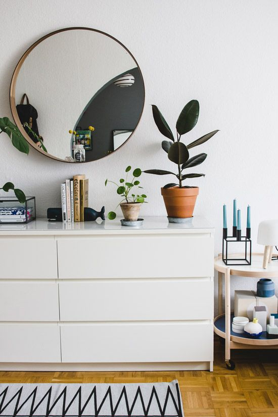 boho and mid-century modern spaces can also fit IKEA Malm dressers easily