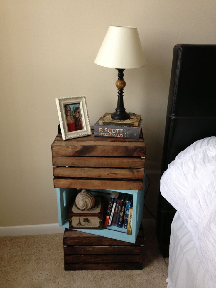 How To Incorporate Wood Crates Into Decor 33 Ideas Digsdigs: night table ideas