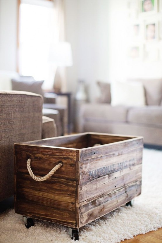 How To Incorporate Wood Crates Into Decor 33 Ideas Interior Decorating And Home Design