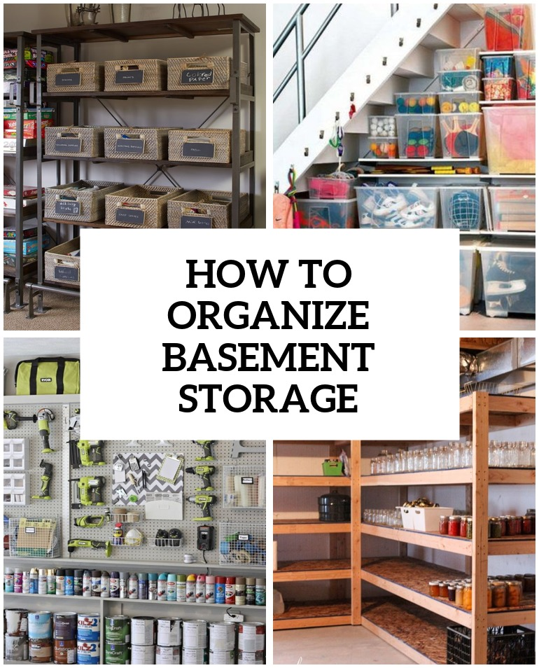 How To Organize Basement Storage 8 Tips Cover