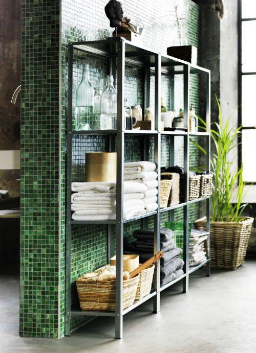 How to rock ikea hyllis shelves in your interior 31 ideas for Ikea garden shelf
