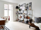 IKEA Hyllis shelves with books, photos, paintings, books, lamps and other stuff