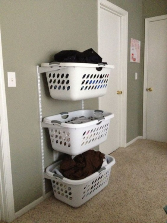How to smartly organize your laundry space 37 ideas Storage solutions for small laundry rooms