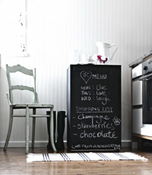 How To Use Chalkboard Pieces For Home Décor: 35 Cool Ideas