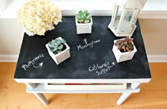 How To Use Chalkboard Pieces In Home Decor Ideas