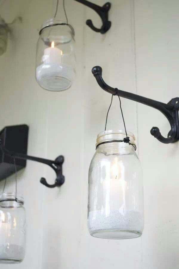 picture of how to use mason jars in home decor