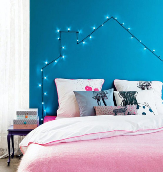 How To Use String Lights For Your Bedroom: 32 Ideas