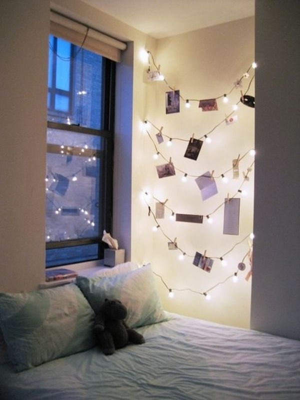 Ideas For Hanging String Lights In Bedroom : How To Use String Lights For Your Bedroom: 32 Ideas DigsDigs