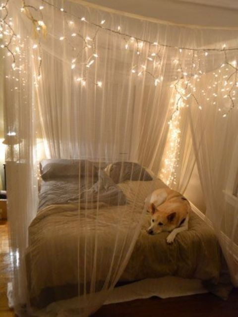 Wonderful DIY Fairy Bed Canopy Lights 480 x 640 · 37 kB · jpeg