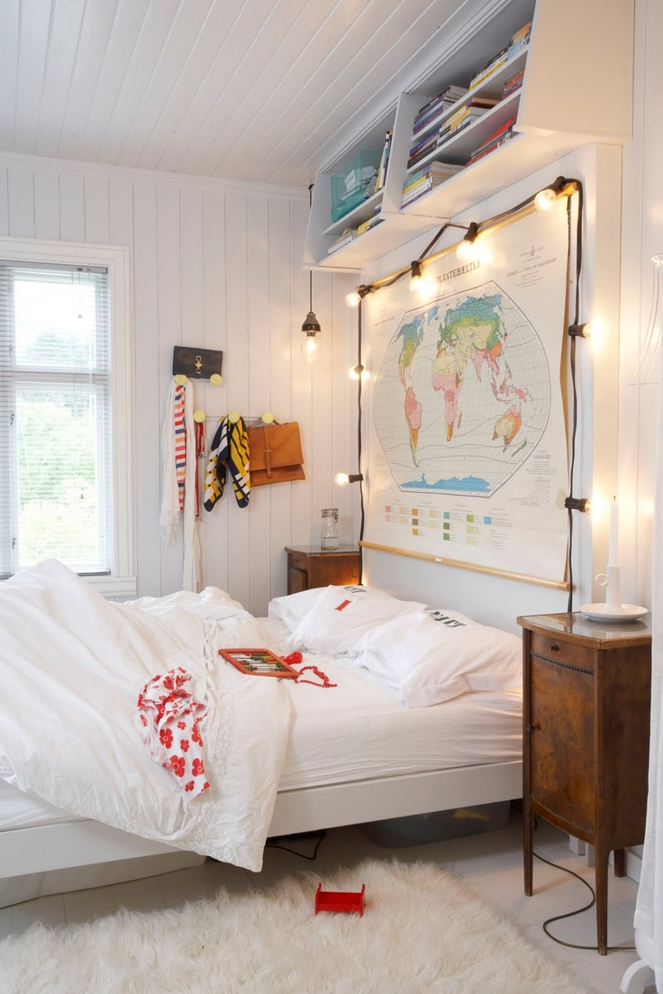 String Lights Childrens Bedroom : How To Use String Lights For Your Bedroom: 32 Ideas DigsDigs