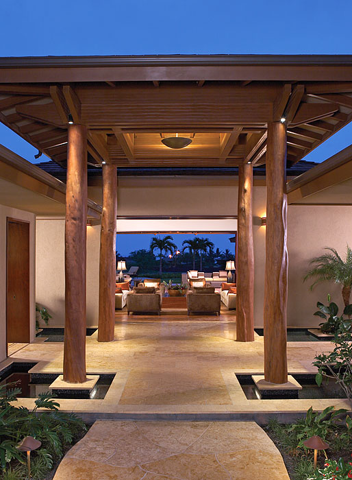 Hualalai Luxury Home Design Entry