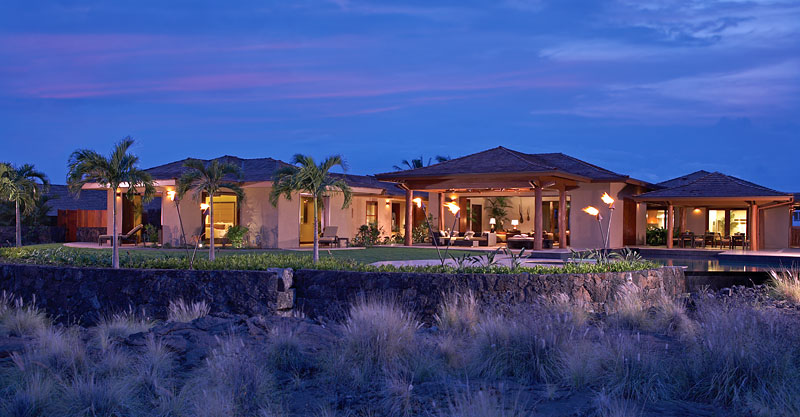 Luxury dream home design at hualalai by ownby design for Luxury house exterior designs