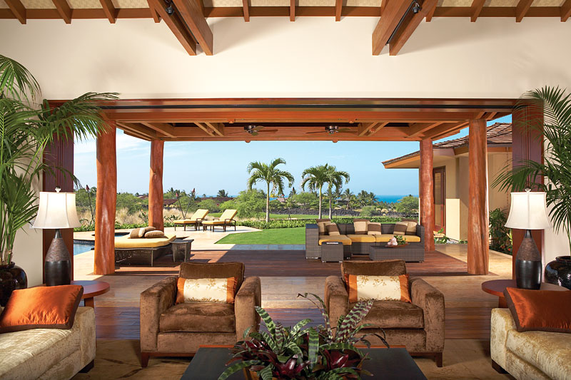Luxury dream home design at hualalai by ownby design for Great room home designs