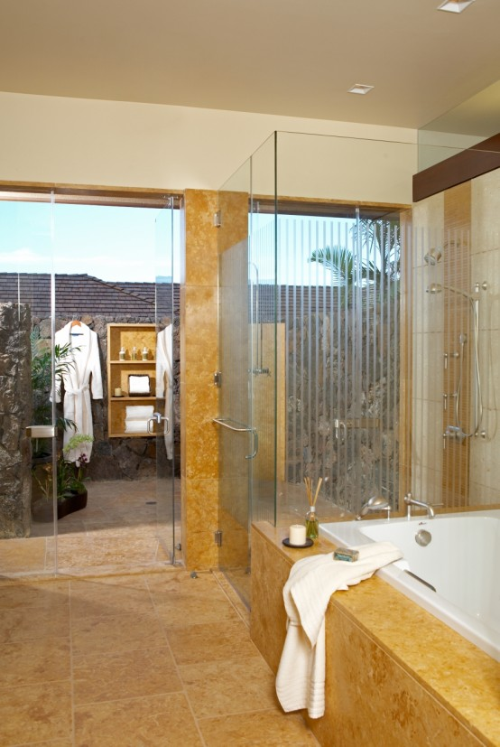 Hualalai Luxury Home Design Master Bath